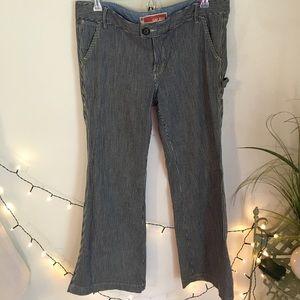 Vintage Gap Flare Leg Striped Carpenter Jeans